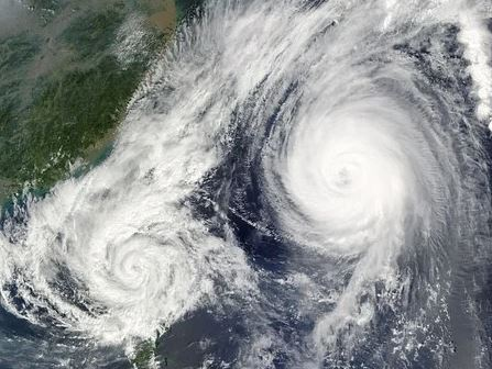 Has Singapore ever been hit by a typhoon?